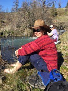 Mazarine Treyz hiking