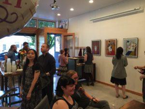 Mazarine Treyz art opening